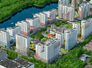 Панорама корпусов жилого комплекса River Park